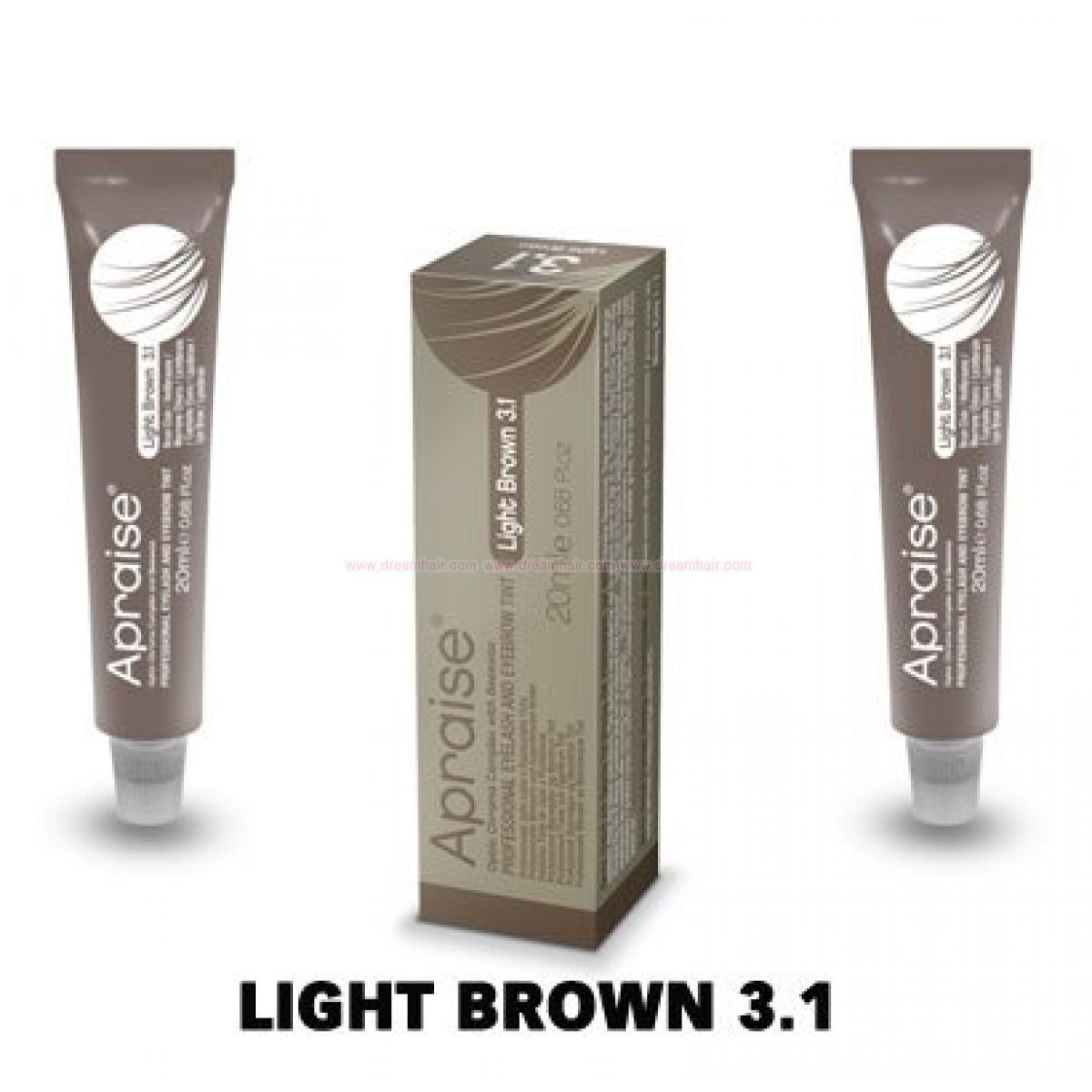 Apraise Eyelash And Eyebrow Tint Light Brown 31 Eyebrow Tinting