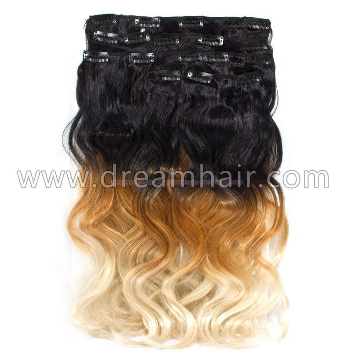 Clip In Ombre 8 Pcs 50cm160g 1b27613 Hair Extensions Outlet