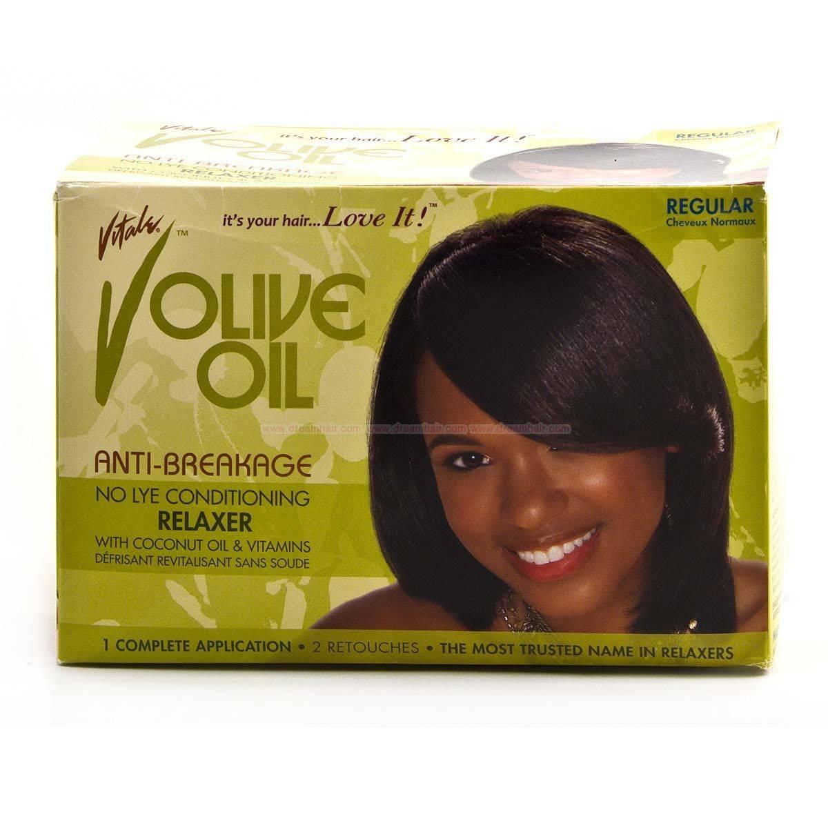 vitale olive oil anti breakage no lye relaxer regular kit relaxers