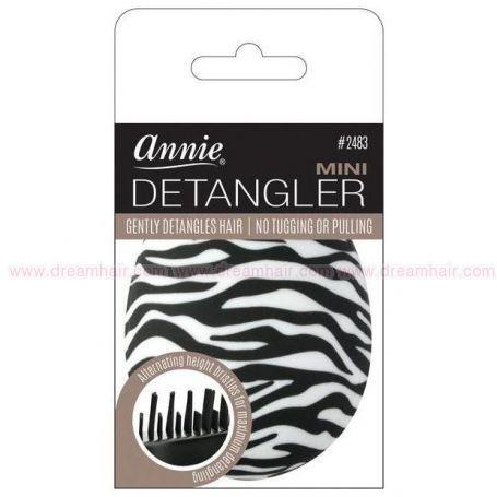 Mini Detangler Brush Rubberized Zebra Pattern