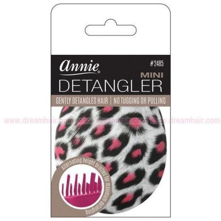 Mini Detangler Brush Rubberized Cheeta Pattern