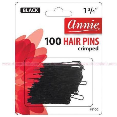 Invisible Hair Pins Black 100 pcs / 45mm