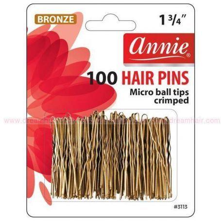 Invisible Hair Pins Bronze 100 pcs / 45mm
