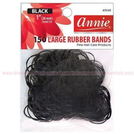 Rubber Bands Black (L) 150pcs