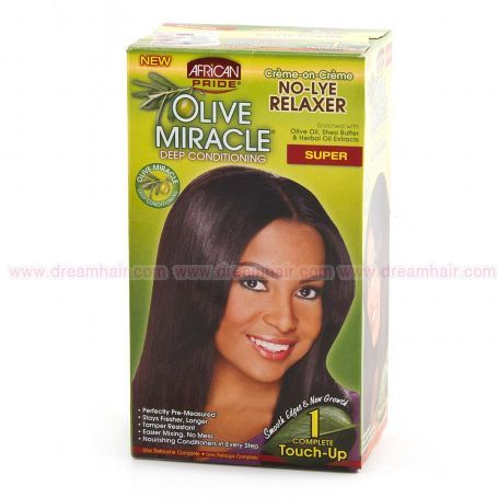 African Pride Olive Miracle No-Lye Relaxer Super 1 Touch Up