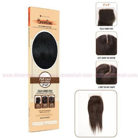 Bare & Natural Silk Closure Straight 4x4 Natural Color 30cm