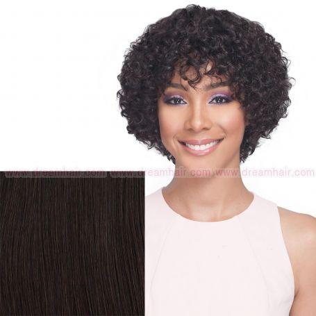 Bobbi Boss Premium Human Hair Wig MH1266 Cardi Natural Color