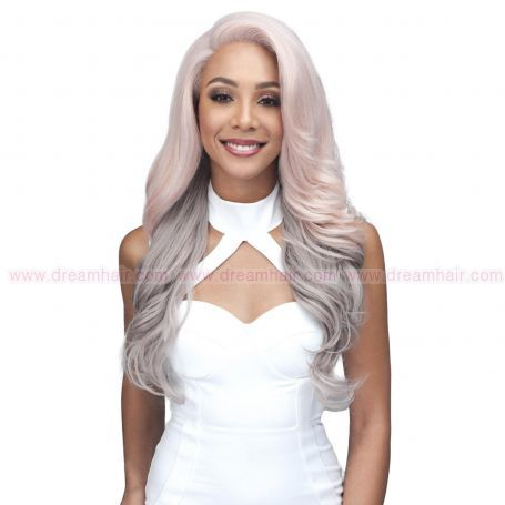 Bobbi Boss Lace Front Wig MLF330 Taraji BLUSH GREY#