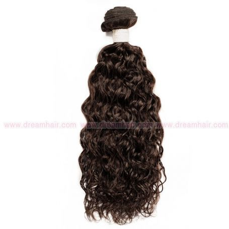 100% Virgin Brazilian Hair Weft, Spanish Wave / 30cm / #Natural Dark