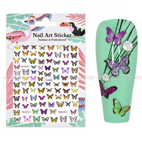 Nailart Sticker Butterfly 2