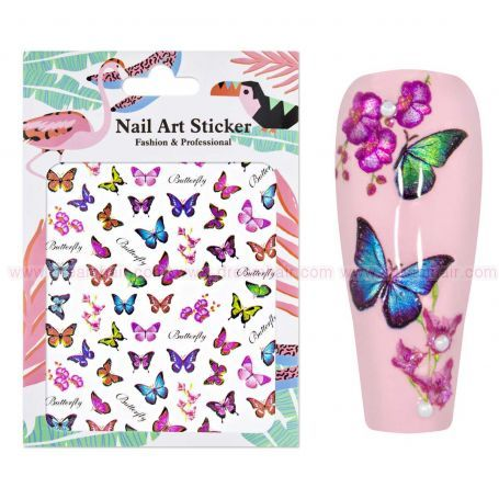 Nailart Sticker Butterfly 3