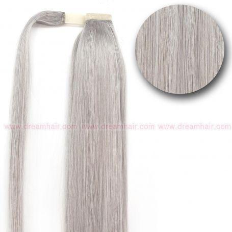 Premium Clip-In Ponytail 90g / 40cm / Silver Ash