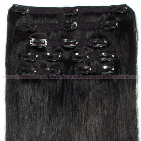 Premium Clip-In Hair Extension 7-pcs 140g/50cm 1#