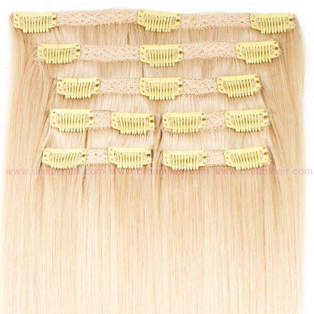Premium Clip-In Hair Extension 7-pcs 140g/50cm 1001#