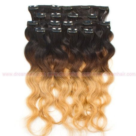 Clip-In Hair Extension Ombre 8pcs / 120g / 45cm 1B / 4 / 27