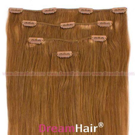 Clip-In Hair Extension 4pcs 40cm 18#