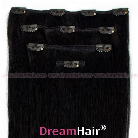 Clip-In Hair Extension 4pcs 60cm 1#