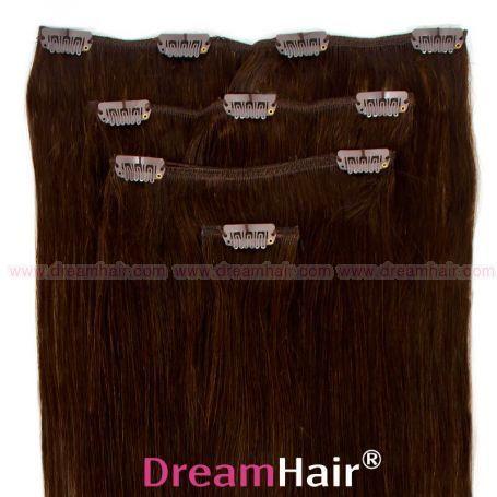 Clip-In Hair Extension 4pcs 30cm 2#