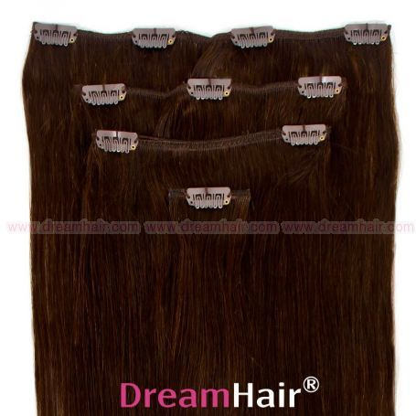 Clip-In Hair Extension 4pcs 40cm 2#