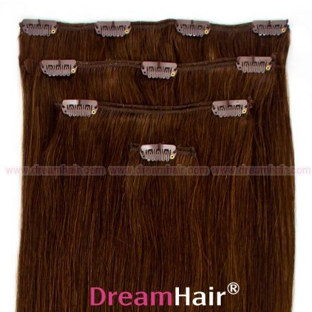 Clip-In Hair Extension 4pcs 40cm 4#