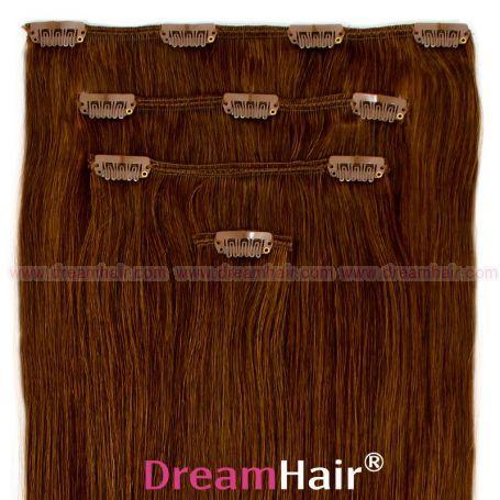 Clip-In Hair Extension 4pcs 40cm 6#