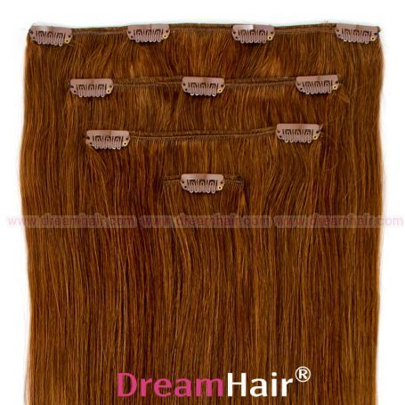 Clip-In Hair Extension 4pcs 30cm 8#