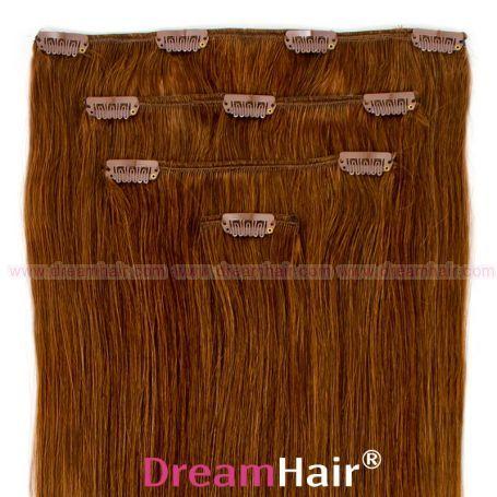Clip-In Hair Extension 4pcs 40cm 8#