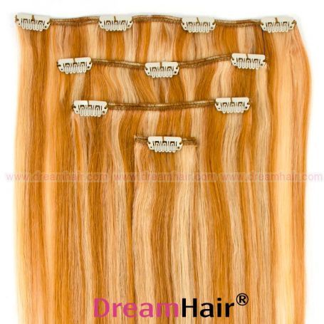 Clip-In Hair Extension 4pcs 30cm P27/613#
