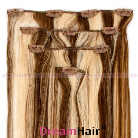 Clip-In Hair Extension 4pcs 40cm P6/60#