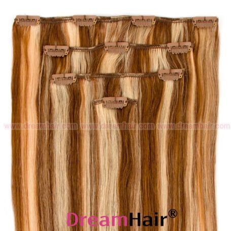 Clip-In Hair Extension 4pcs 40cm P8/24#