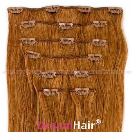 Clip-In Hair Extension 8pcs 40cm 12#
