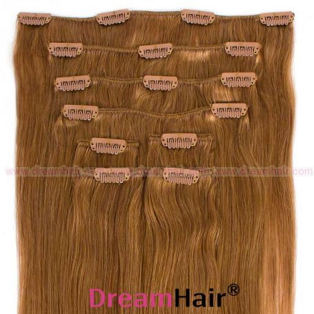 Clip-In Hair Extension 8pcs 40cm 18#