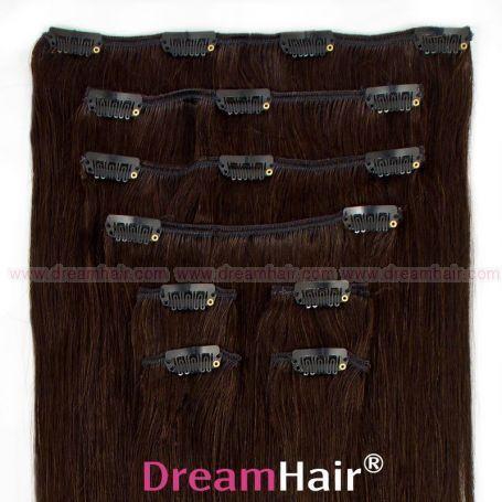 Clip-In Hair Extension 8pcs 50cm 1B#