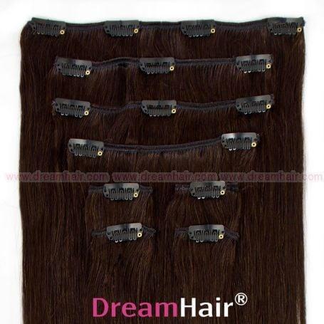Clip-In Hair Extension 10-pcs 45cm 1B#
