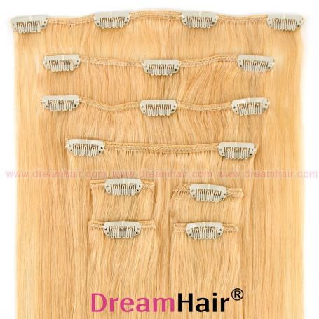 Clip-In Hair Extension 8pcs 40cm 24#