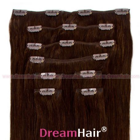 Clip-In Hair Extension 8pcs 50cm 2#