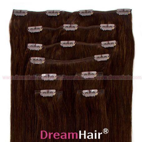 Clip-In Hair Extension 10-pcs 45cm 2#
