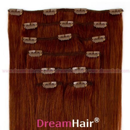 Clip-In Hair Extension 8pcs 50cm 33#