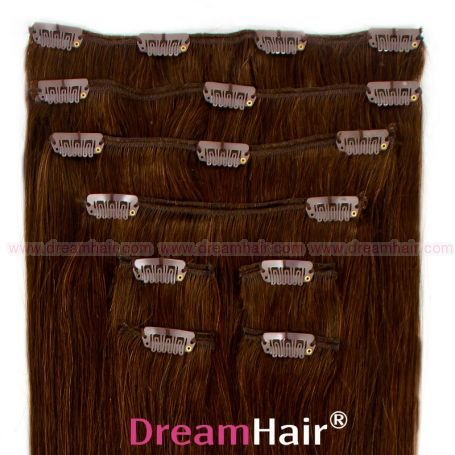 Clip-In Hair Extension 8pcs 40cm 4#