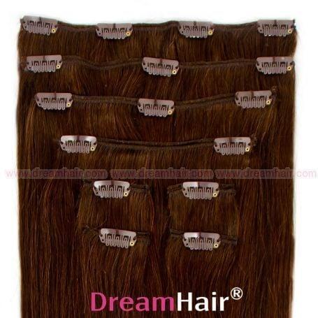 Clip-In Hair Extension 10-pcs 45cm 4#