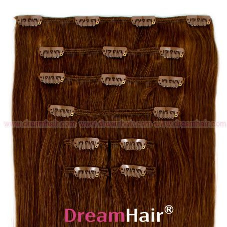 Clip-In Hair Extension 8pcs 40cm 6#