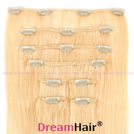 Clip-In Hair Extension 8pcs 40cm 613#