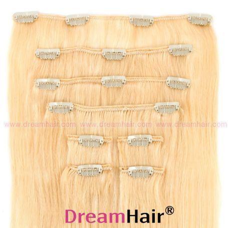 Clip-In Hair Extension 8pcs 50cm 613#