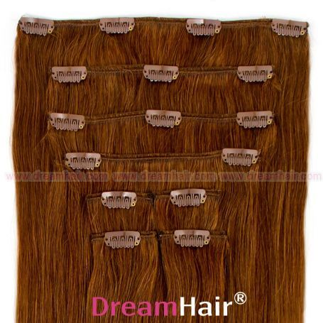 Clip-In Hair Extension 10-pcs 45cm 8#