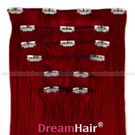 Clip-In Hair Extension 8pcs 40cm BUR#