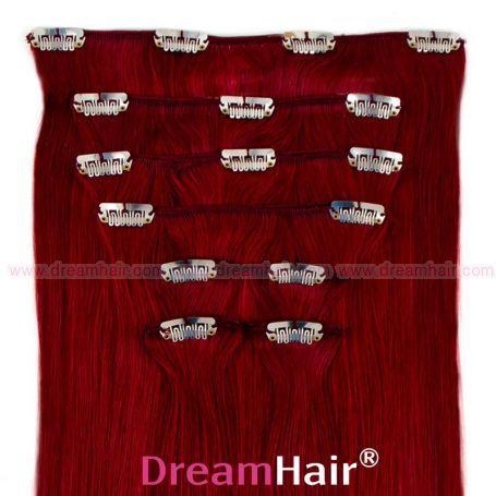 Clip-In Hair Extension 8pcs 50cm BUR#