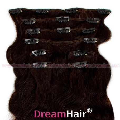 Clip-In Hair Extension 8pcs Wave 40cm 1B#