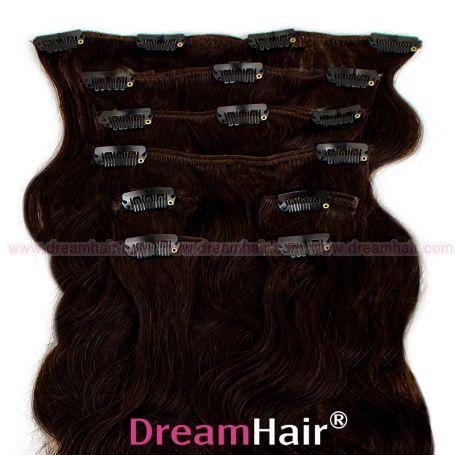 Clip-In Hair Extension 8pcs Wave 60cm 1B#