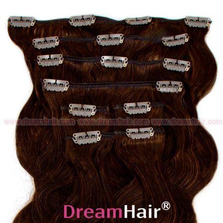 Clip-In Hair Extension 8pcs Wave 60cm 2#