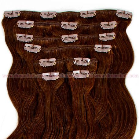 Clip-In Hair Extension 8pcs Wave 60cm 4#